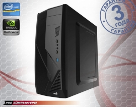 Игровой компьютер Intel Core i3-7100/ 8Gb DDR4/ 1Tb HDD/ GeForce GTX 1050Ti/ DVD-RW